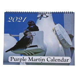 2021 Purple Martin Spiral Bound Wall Calendar