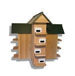 Troyer's T-14 CEDAR Purple Martin House with Poly Roof