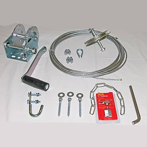 Mounting Kit shown with Brake Winch.  Other winch styles available.